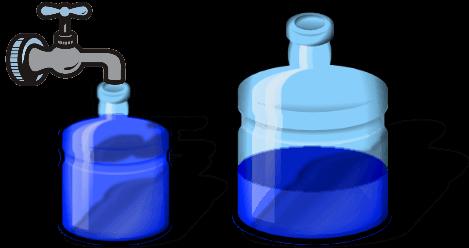 разлить ёмкостями по 3 и 5 литров 4 литра