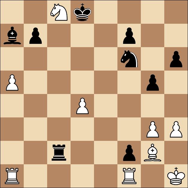 Карякин вылетел из кубка мира по шахматам-2017 в Тбилиси, итоговая позиция, FEN: 2Nk4/bp3p2/5n1p/P5p1/3P4/6PP/2r2pB1/R4R1K b - -