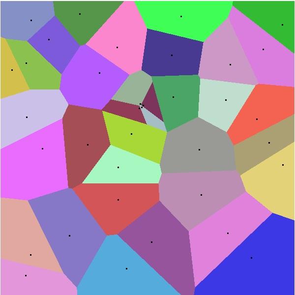 диаграмма Вороного, пример