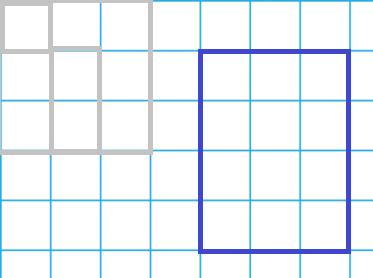 квадратики и прямоугольники в тетради в клеточку...